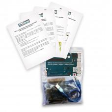 Набор с платой Arduino-совместимой Uno R3 CH340G + кабель USB Type A/B + корпус (акрил)