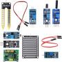Набор датчиков для Arduino-проектов (7 штук) красный кейс