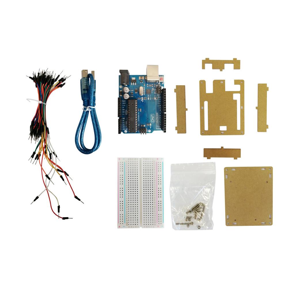 Набор с платой Arduino-совместимой Uno R3, макетной платой, корпусом и проводами