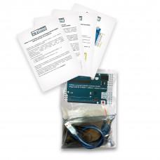 Набор с платой Arduino-совместимой Mega 2560 R3 CH340G + кабель USB Type A/B + корпус (акрил)