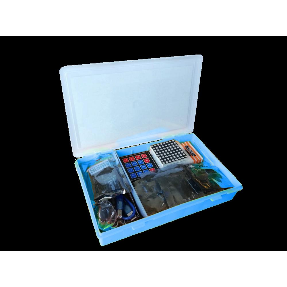 Набор с платой Arduino-совместимой и инструкцией большой (15 проектов) синий кейс