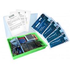 Набор с платой Arduino-совместимой и инструкцией большой (15 проектов) зелёный кейс