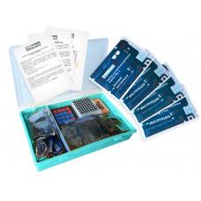 Набор с платой Arduino-совместимой и инструкцией большой (15 проектов) бирюзовый кейс